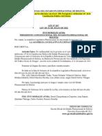 Ley Nº 267 Convenio de Cooperación Prevención del Uso Indebido y Tráfico Ilícito de Drogas.doc