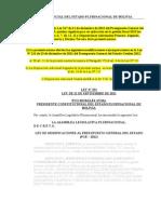 Ley Nº 291 de Modificaciones al Presupuesto General del Estado (Pge – 2012).doc