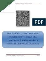 CAMBIO DE PROYECCIÓN UTM A CCL CON ARCGIS 9.3.1-
