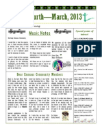 2013 March Go Fourth Newsletter