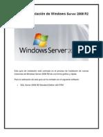 instalación de Windows Server 2008 R2