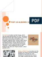 Top 10 Albums 1972 from The Baby Boomers