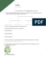 Biology UP10 Plant Bio Study Guide REV 3 2009- Student