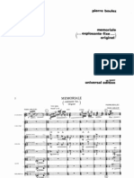 Boulez - Memoriale (Score)