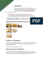 TRABALHO DE E.FISICAO que são os Carboidratos