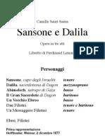 Saint-Saens Samson Dalila