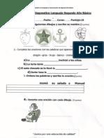 Prueba de Diagnostico 2°A Lenguaje con insignia y logo