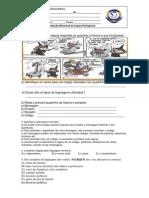 Prova 2013 elementos e linguagem 8°ano (Salvo Automaticamente)