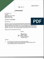 Chevron Corrective Action Order