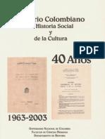 El Anuario de Historia Social y de La Cultura