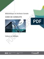 Code de conduite - Valeurs et éthique