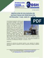 Inspeccion de La Soldadura en Estructuras de Perforacion y Gas. Codigo Aws d1.1, API 4f