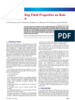 Effect of Drilling Fluids on ROP