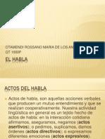 EL HABLA