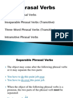 Phrasal Verbs Exercices