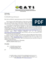 WOCATI 3nd Circular Letter from Petros Vassiliadis