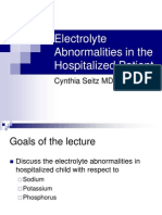 Electrolyte Abnormalities in the Hospitalized Patient