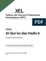 RPP Silabus Quran Hadits MI Kelas 6