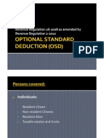 Optional Standard Deduction OSD