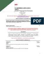 Formato CV Chile Employment