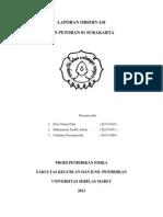 Laporan Observasi Sdn Petoran Surakarta Yohana,Desy,Topik