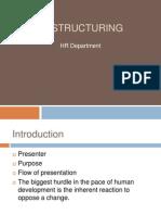 Restructuring HR