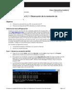 Práctica de laboratorio 6.2.1 Observación de la resolución de DNS