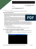 Práctica de laboratorio 6.2.3 Exploración de FTP