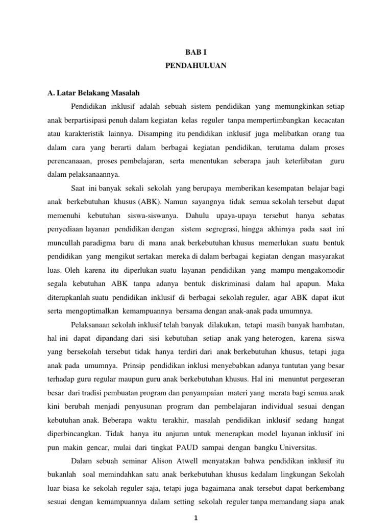 Laporan Observasi Mata Kuliah Pendidikan Inklusi Di Sd Negeri Pajang 1 Dan Sma Muhammadiyah Surakarta