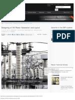 Designing of HV Power Substation and Layout _ EEP
