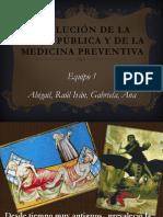 Evolución de la salud publica y de la