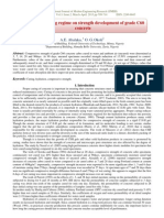 Influence of curing regime on strength development of grade C60  concrete