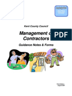 Vetting & Selection of Contractors (All Including Non-construction)