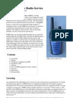 General Mobile Radio Service INFO