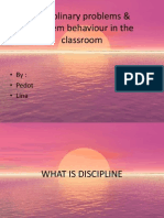 G8 - Disciplinary Problems in Classroom
