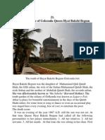 THE DEATH SCENE OF QUEEN HYAT BAKSHI BEGUM OF GOLCONDA KINGDOM