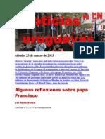 Noticias Uruguayas sábado 23 de marzo del 2013