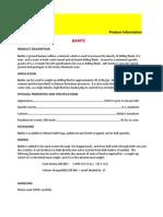 Barite Product Data Sheet