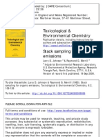 Stack Sampling for Organic Emission