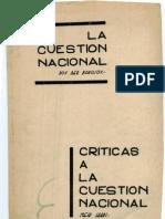 Borochov-La Cuestion Nacional Judia & Yaari-criticas a La Cuestion Nacional