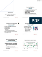 Principles of marketing - chapter 4 handouts