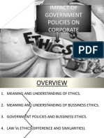 IMPACT OF GOVERNMENT POLICIES ON ETHICS