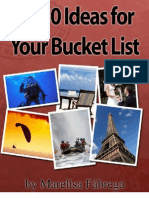1250 Ideas for Your Bucket List