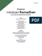 Buku Panduan Ramadhan (Ringkasan)