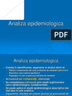 Analiza epidemiologica 2013