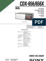 Sony CDX-656/656X service manual