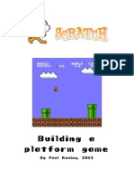 Building a platform game with Scratch