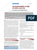 Hardenability of High Cr White Cast Iron