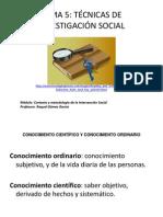 PPT  tema 5 TÉCNICAS DE INVESTIGACIÓN SOCIAL