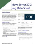 WS2012 Licensing-Pricing Datasheet